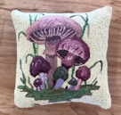 Ginny Shannon's purple mushrooms pillow
