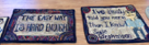 "A couple of Susie's ""sayings"" rugs"