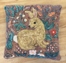 Loretta's rabbit pillow